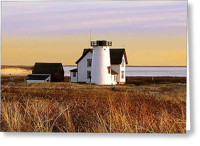Stage Harbor Lighthouse Chatham Greeting Card