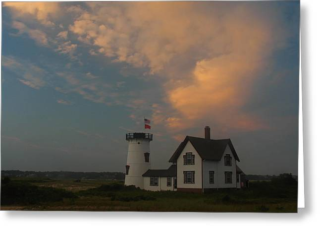 Stage Harbor Lighthouse Greeting Card by Juergen Roth