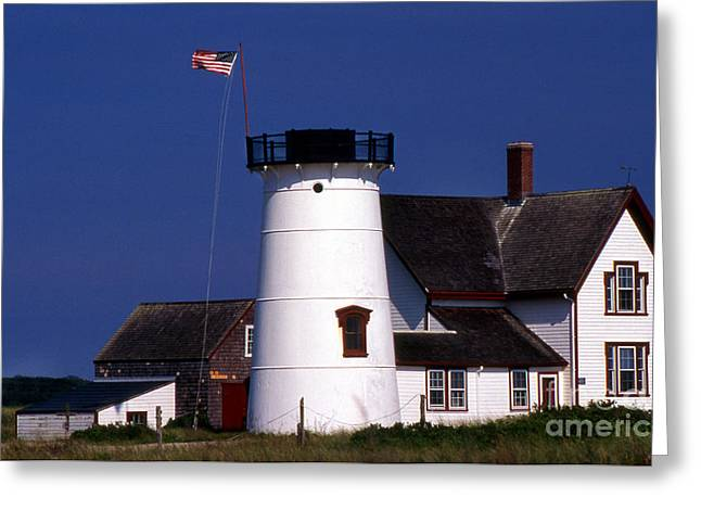 Stage Harbor Lighthouse Ma Greeting Card