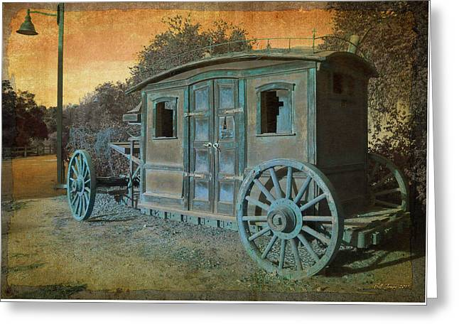Stagecoach Greeting Card by Bill Jonas