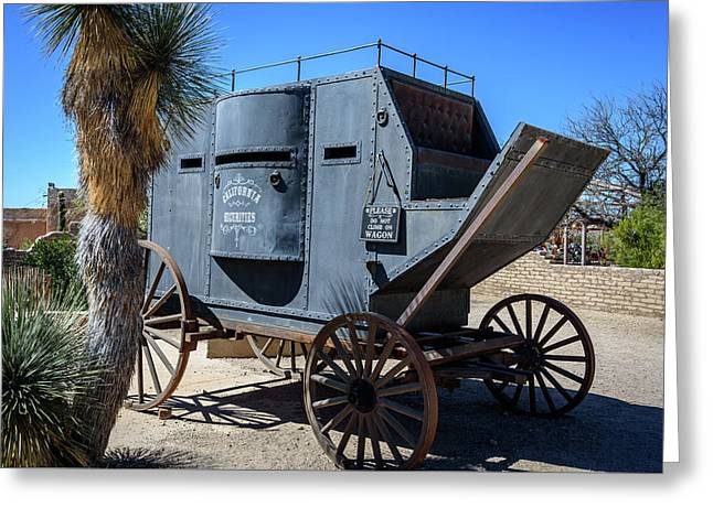 Stagecoach - Old Tucson Arizona Greeting Card by Jon Berghoff