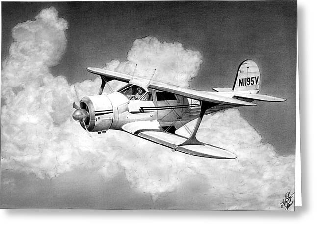 Staggerwing Greeting Card by Lyle Brown