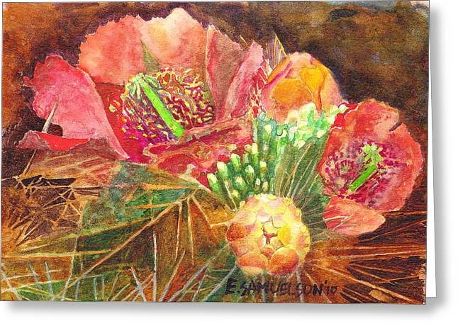 Staghorn In Bloom Greeting Card by Eric Samuelson
