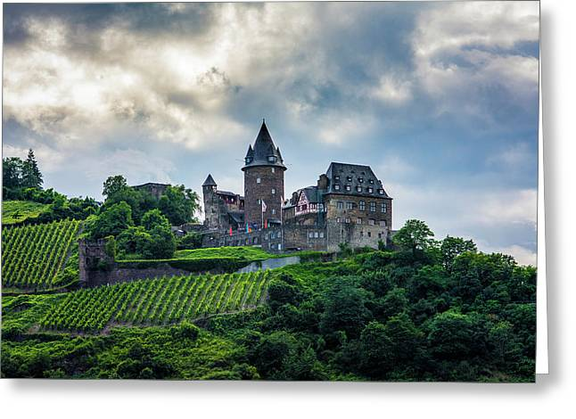Stahleck Castle Greeting Card by David Morefield