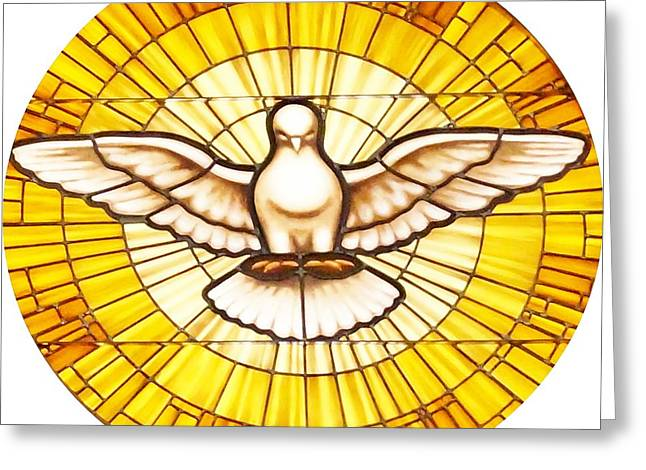 Stain Glass Dove Greeting Card