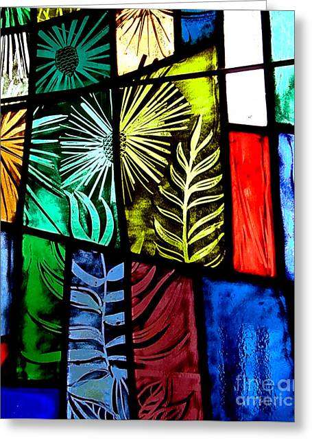 Stained Glass 3 Greeting Card by Windi Rosson