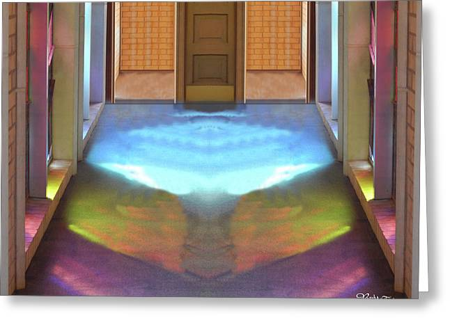 Stained Glass #4714_2 Spiritual Path Greeting Card by Barbara Tristan