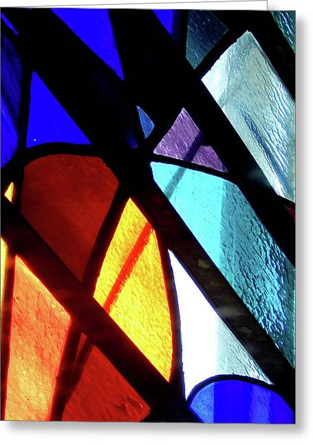 Stained Glass #4717 Greeting Card by Barbara Tristan