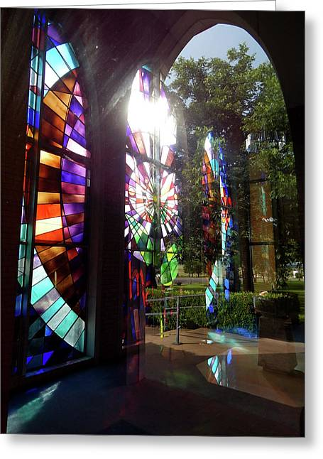 Stained Glass #4720 Greeting Card