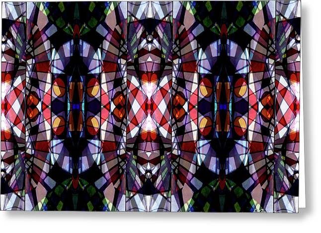 Stained Glass #4722 Abstract Design 2 Greeting Card by Barbara Tristan