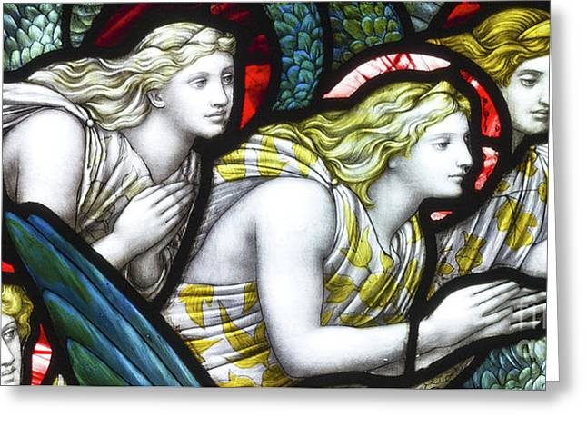 Stained Glass Angels Greeting Card