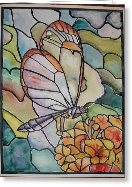 Stained Glass Butterfly Greeting Card