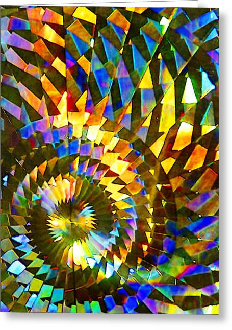 Stained Glass Fantasy 1 Greeting Card by Francesa Miller