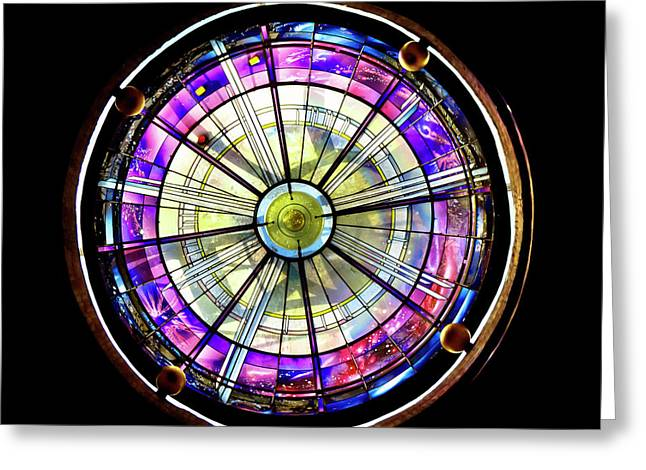 Greeting Card featuring the photograph Stained Glass by John Hix