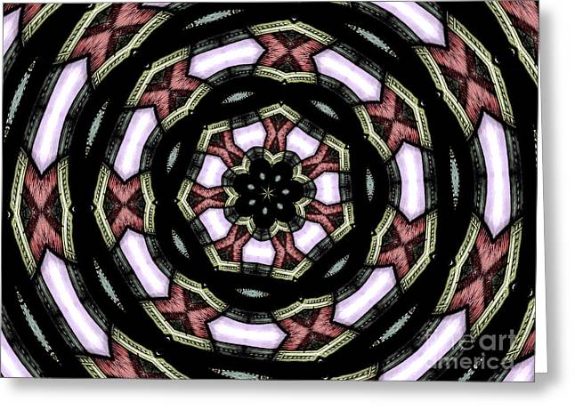 Greeting Card featuring the photograph Stained Glass Kaleidoscope 12 by Rose Santuci-Sofranko
