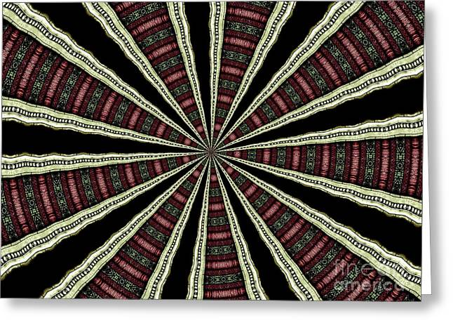 Greeting Card featuring the photograph Stained Glass Kaleidoscope 14 by Rose Santuci-Sofranko