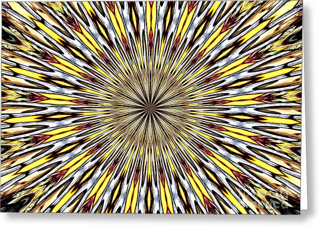 Greeting Card featuring the photograph Stained Glass Kaleidoscope 22 by Rose Santuci-Sofranko