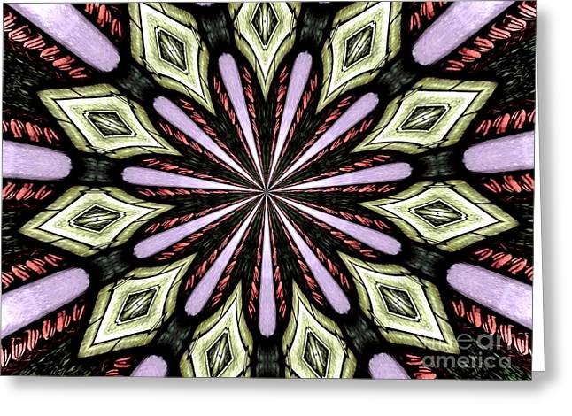 Greeting Card featuring the photograph Stained Glass Kaleidoscope 25 by Rose Santuci-Sofranko