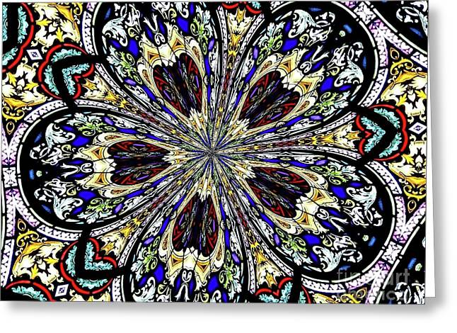 Stained Glass Kaleidoscope 38 Greeting Card