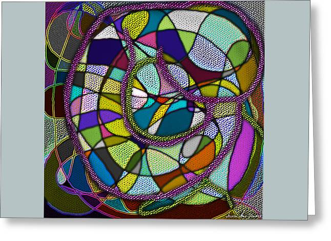 Greeting Card featuring the digital art Stained Glass Mother And Child by Iowan Stone-Flowers