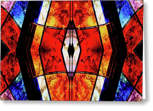 Stained Glass Panel Greeting Card
