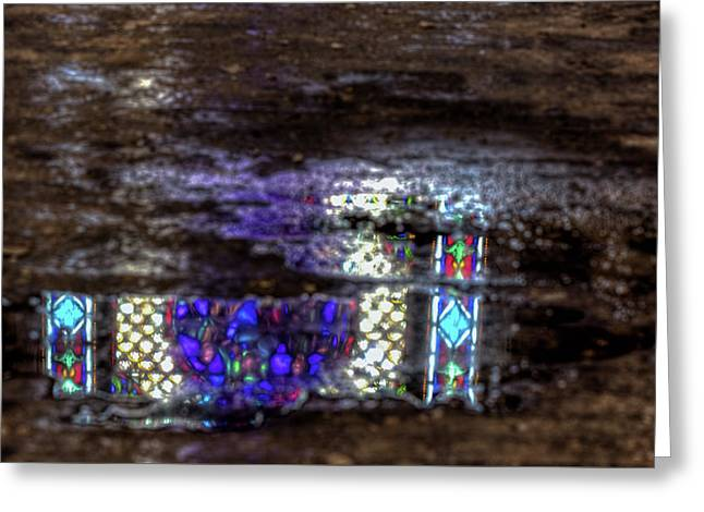 Stained Glass Reflections Greeting Card