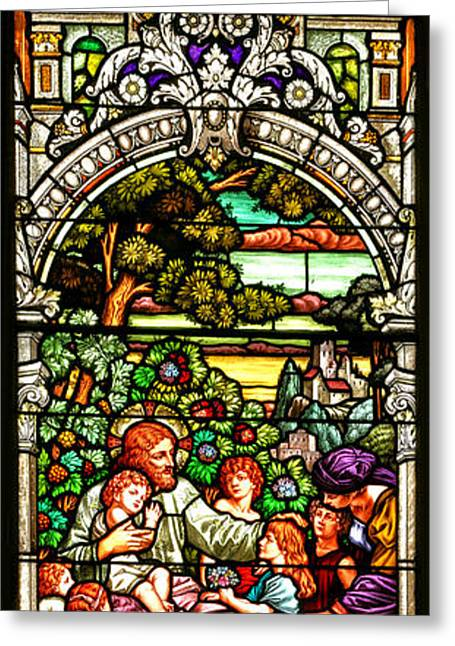 Greeting Card featuring the photograph Stained Glass Scene 12 by Adam Jewell