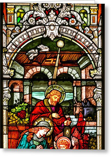 Greeting Card featuring the photograph Stained Glass Scene 4 - 2 by Adam Jewell