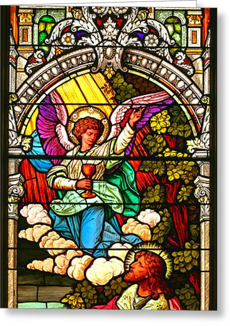 Stained Glass Scene 7 Crop Greeting Card by Adam Jewell