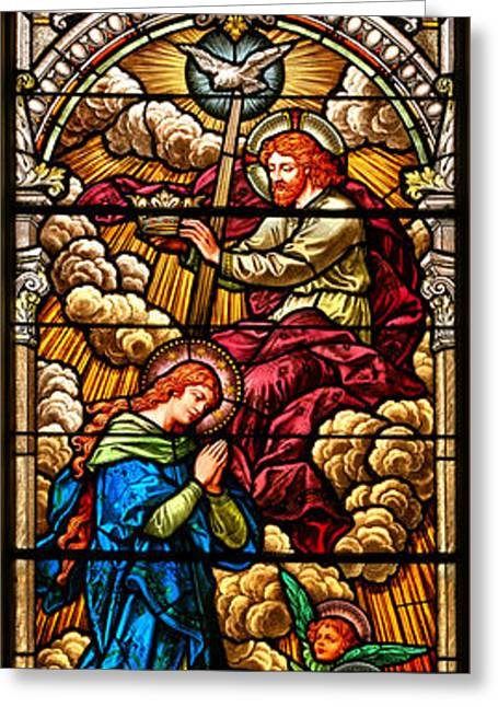 Greeting Card featuring the photograph Stained Glass Scene 8 by Adam Jewell
