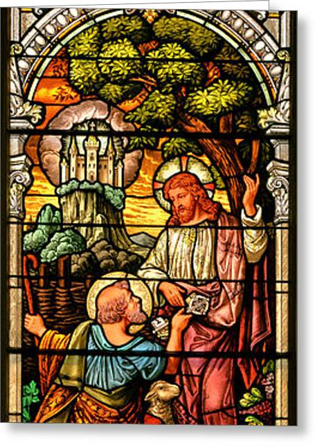Greeting Card featuring the photograph Stained Glass Scene 9 by Adam Jewell