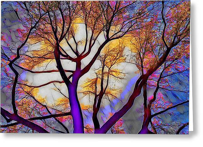 Stained Glass Sunrise Greeting Card