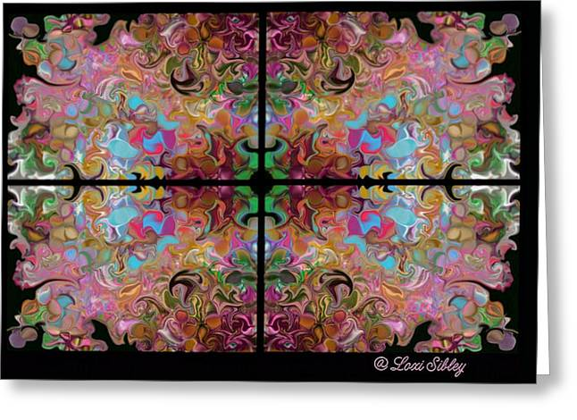 Stained Glass Window Greeting Card