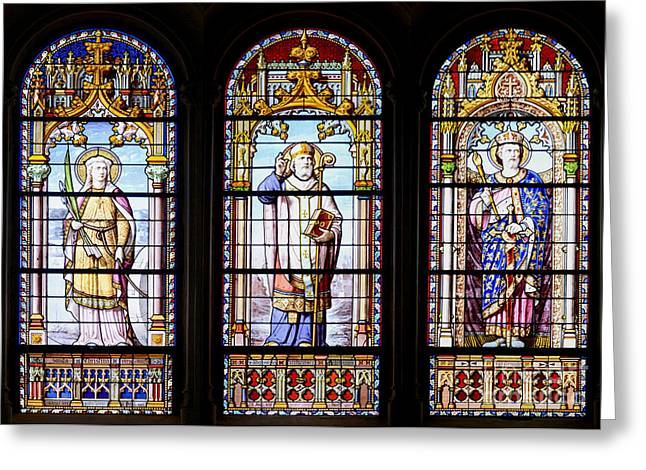 Stained-glass Windows Greeting Card