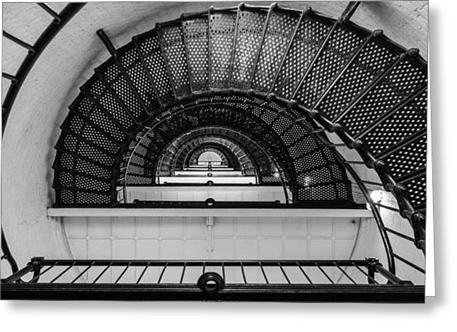 Stair Master Greeting Card by Kristopher Schoenleber