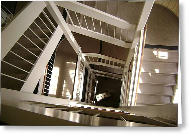 Stair Way To Knowledge Greeting Card by Paul Meinerth