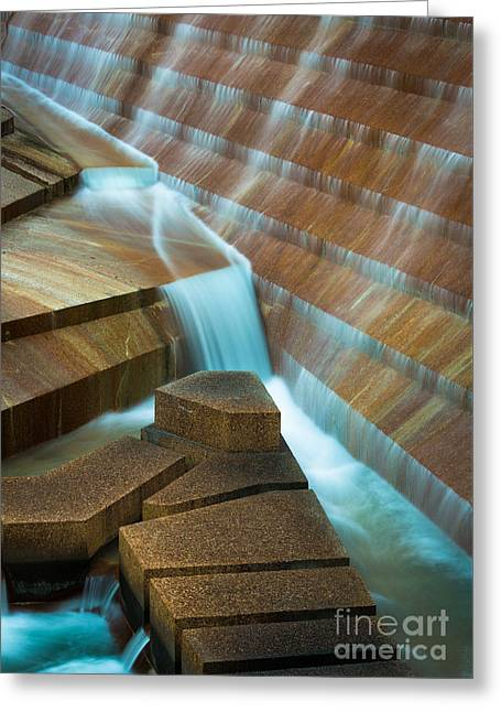 Staircase Fountain Greeting Card by Inge Johnsson