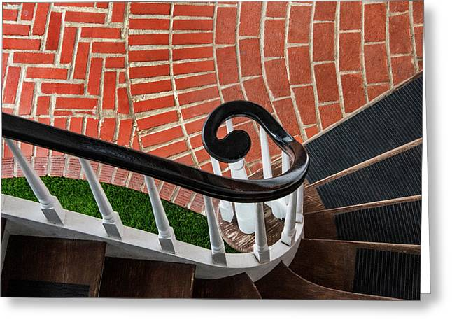 Staircase To The Plaza Greeting Card