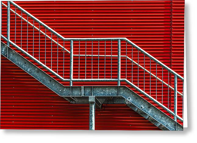 Staircase To The Red Room Greeting Card by Stefan Krebs