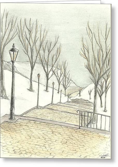 Stairs Greeting Card by Eduardo Kraszczuk