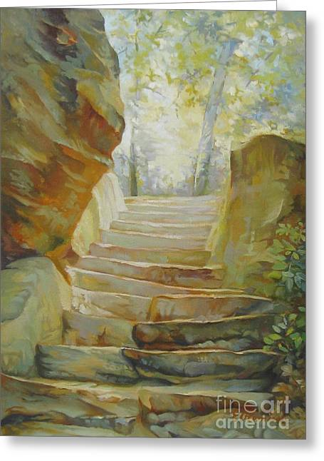 Stairs Greeting Card by Elena Oleniuc
