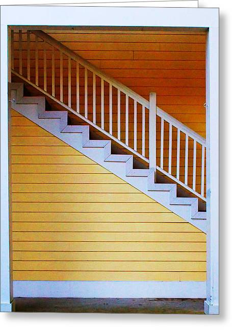 Stairs Greeting Card by Farol Tomson