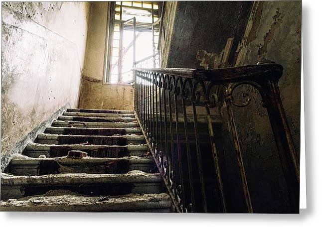 Stairs In Haunted House Greeting Card