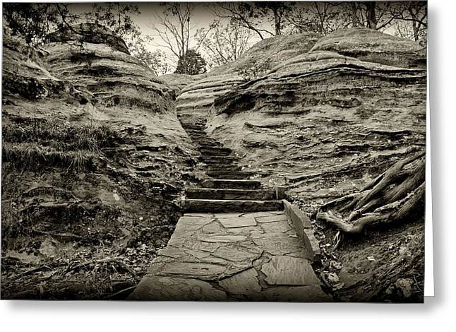 Stairs Greeting Card by Sandy Keeton