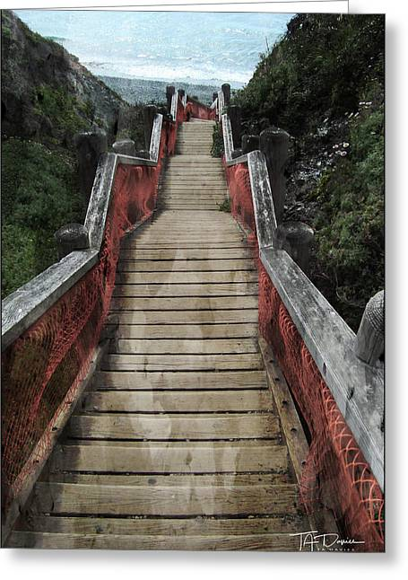 Stairs To Bliss Greeting Card