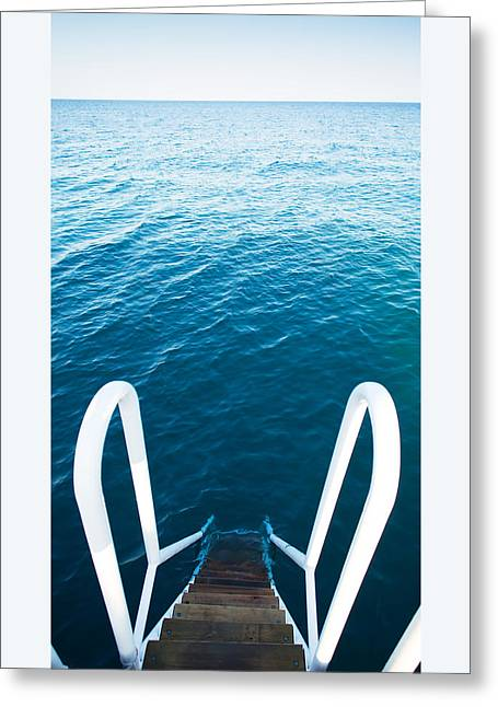 Stairs To The Blue Sea Greeting Card by Vadim Goodwill