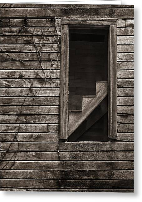 Stairs With A View Greeting Card