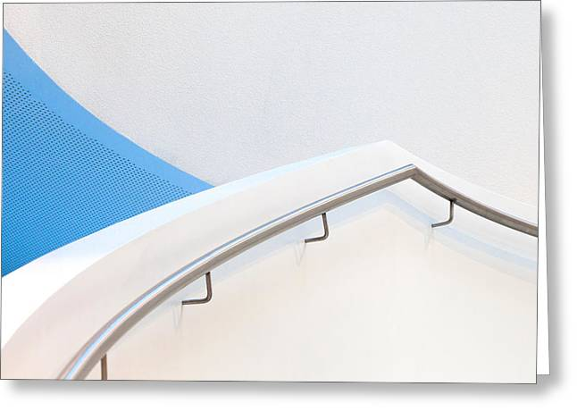 Stairs With Blue Greeting Card