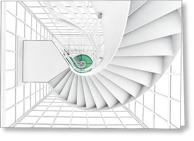Stairs_2_kinemathek Greeting Card by Herbert A. Franke