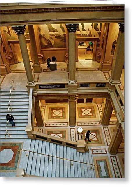 Stairway Architecture Carnegie Art Musem Greeting Card by Blair Seitz